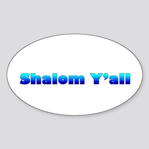 Shalom Y'all Oval Sticker